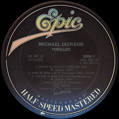 Michael Jackson Thriller Half Speed Mastered Vinyl