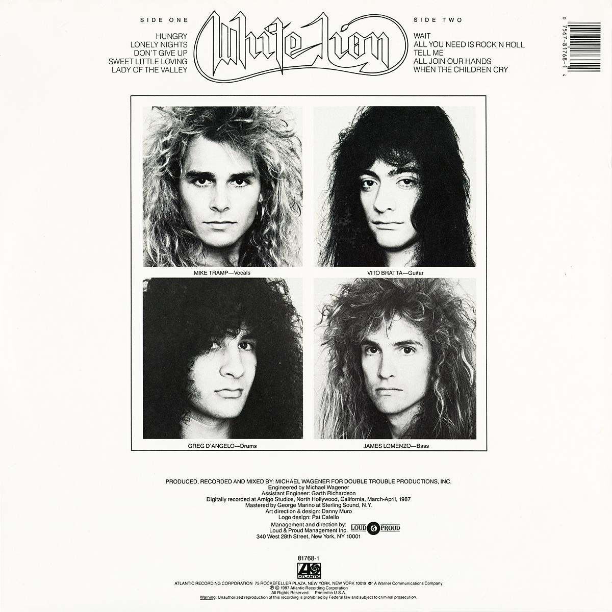White Lion Pride Vinyl Album Covers Com