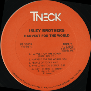 isleybrothersharvestfortheworldlabel1