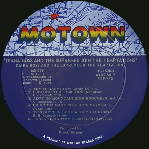 The temptations and motown records