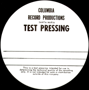 columbiatestpressing