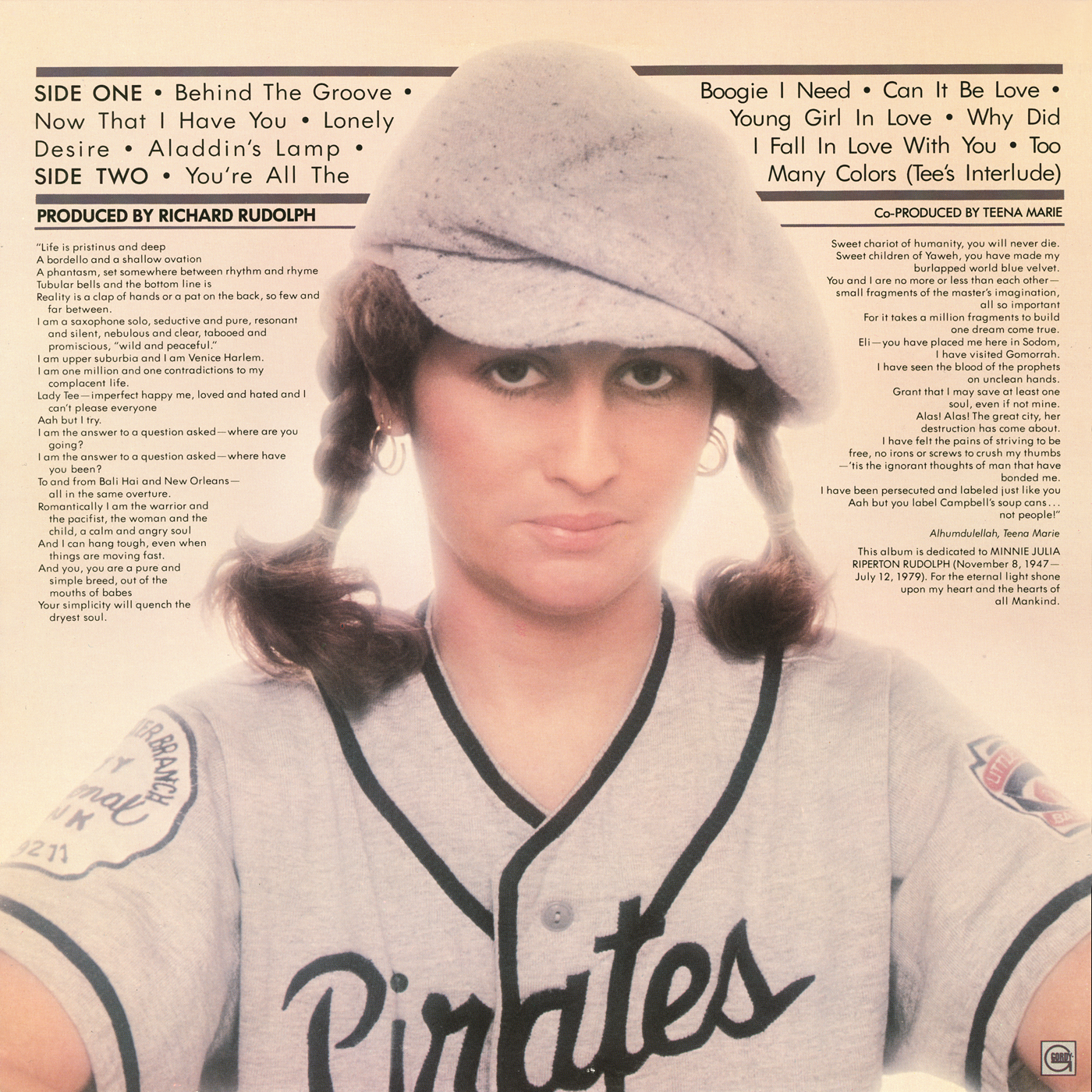 Teena Marie Lady T Vinyl Album Covers Com