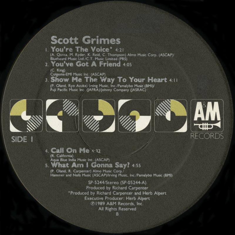 Scott Grimes – Scott Grimes | Vinyl Album Covers com